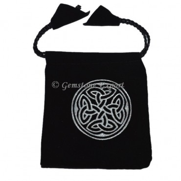 Celtic Round Printed Pouch
