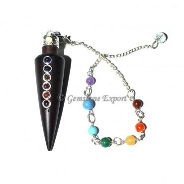 Rose Wooden 7 Chakra Pendulum For Sale