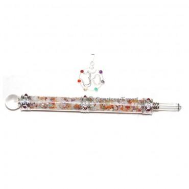 Gemstone Glass Healing Wands