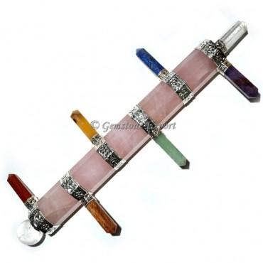 Chakra Wands Rose Quartz with Chakra Pencil