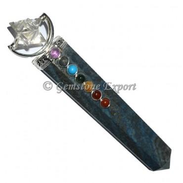 Lapis Lazuli With Merkaba Star Chakra Wand