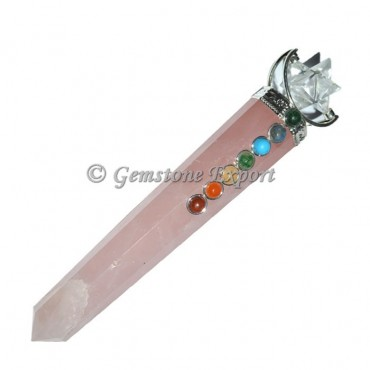 Rose Quartz Merkaba Star Healing Wand