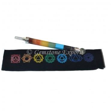 Seven Chakra Healing Wand With Chakra Pouch