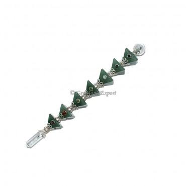 Green Aventurine Seven Chakra Pyramid Healing Wands