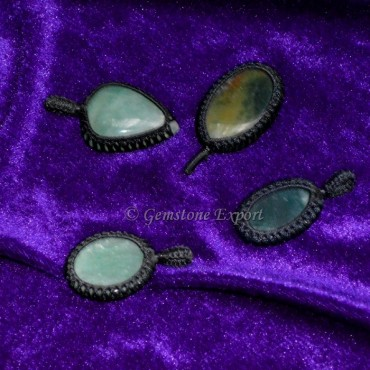 Green Aventurine Wire Wrap Pendants