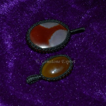 Red Onyx Wire Wrap Pendants