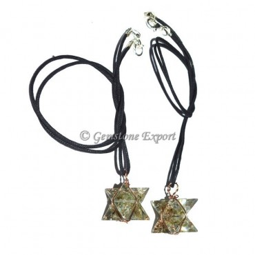 Labradorite Wire Wrapped Merkaba Star Pendants