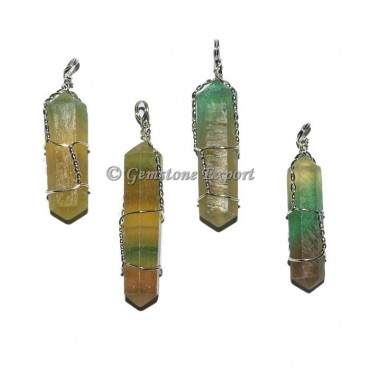 Multi Fluorite Double Terminated Pendant