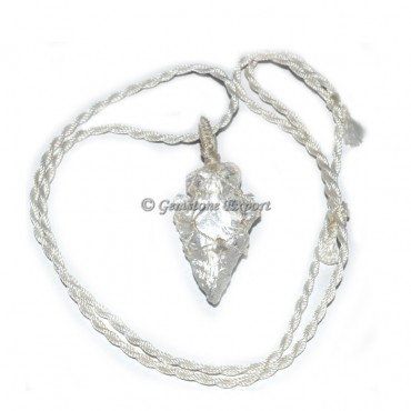 Crystal Quartz Arrowheads Pendants