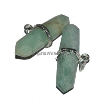 Green Aventurine Terminated Pendants
