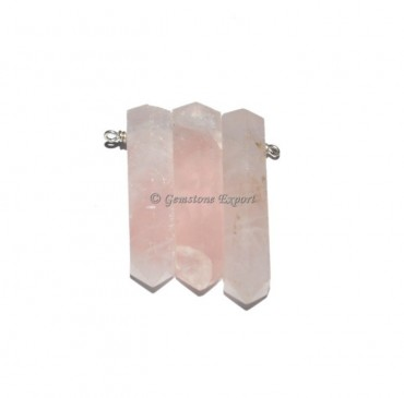 Rose Quartz Pair Pendant