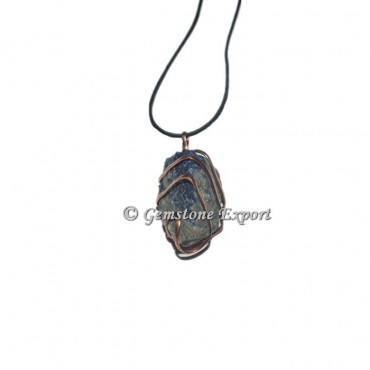 Sodalite Hammered Copper Wire Pendants