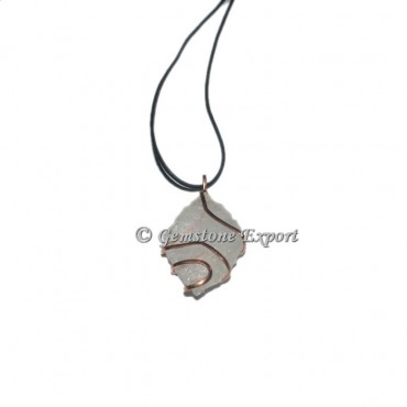 Agate diomond cut Hammered Wrap Pendants