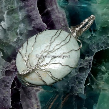 Amazonite Tree Wire Wrap Pendant