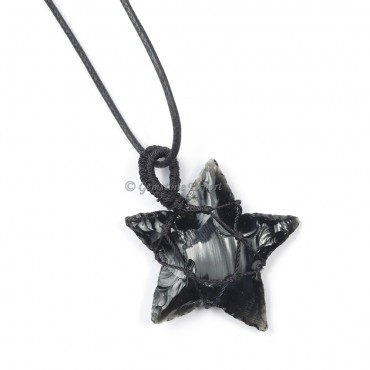 Black Obsidian Star Pendants