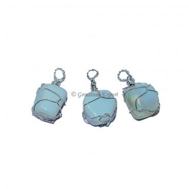 Opalite Wire Wraped Pendants