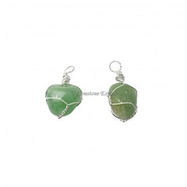 Green Aventurine Wire Wraped Pendants
