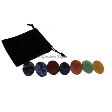 Seven Chakra Worry Stone With Pouch