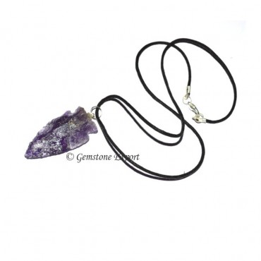 Amethyst Arrowheads Necklace