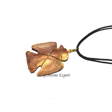Fancy Jasper Bird Necklace