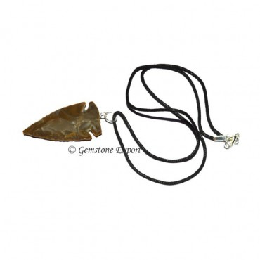 Brown Jasper Arrowheads necklace