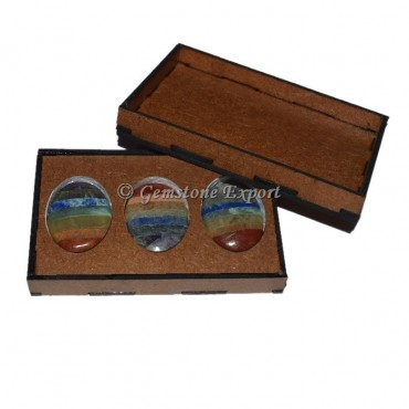 Seven Chakra Bonded Oval With Gift Box