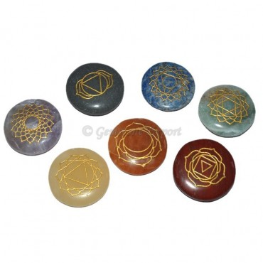 Seven Chakra Circle  Stone Set